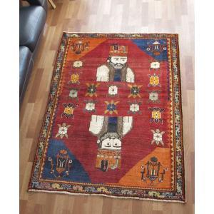 ギャッベ ギャベ/カシュガイ、絨毯のような細かな織、アクセントラグサイズ 168×120cm o-moon