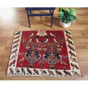 ギャッベ ギャベ/カシュガイ、絨毯のような細かな織、玄関マットサイズ 86×106cm|o-moon
