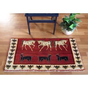 ギャッベ ギャベ/カシュガイ、絨毯のような細かな織、玄関マットサイズ 56×111cm|o-moon