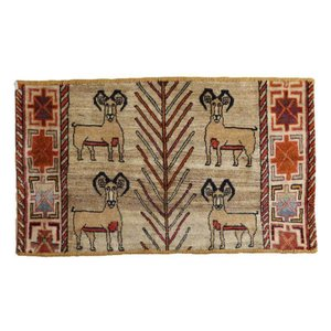ギャッベ ギャベ/カシュガイ、絨毯のような細かな織、玄関マットサイズ 68×120cm|o-moon