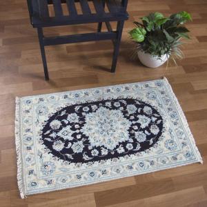 ペルシャ絨毯 ナイン、玄関マットサイズ 91×57cm o-moon