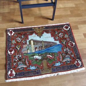 ペルシャ絨毯・タブリーズ、玄関マットサイズ64×86cm o-moon