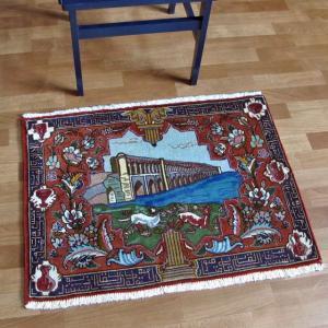 ペルシャ絨毯・タブリーズ、玄関マットサイズ65×87cm o-moon