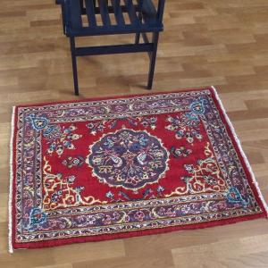 ペルシャ絨毯・アルデカン、玄関マットサイズ 112×81cm o-moon