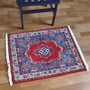 ペルシャ絨毯・サルーク、玄関マットサイズ 84×65cm o-moon