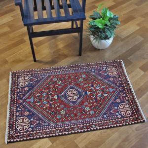ペルシャ絨毯・アバデ、玄関マットサイズ 100×63cm o-moon