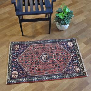 ペルシャ絨毯・アバデ、玄関マットサイズ 100×64cm o-moon