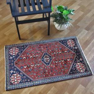 ペルシャ絨毯・アバデ、玄関マットサイズ 102×62cm o-moon