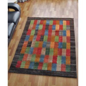 ギャッベ ギャベ/シェカルー、細かめのしなやかな織、リビングサイズ 200×152cm o-moon