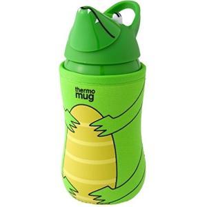 送料無料 thermo mug(サーモマグ) アニマルボトル グリーン(ワニ)