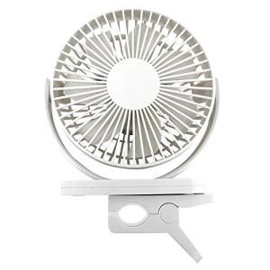 送料無料 トップランド 扇風機 小型 360度回転 卓上 クリップ 両用 部屋干し ホワイト GD-...