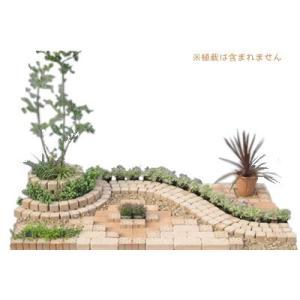 レンガ 庭 デザイン レンガデザインセット キュアガーデン 庭Aベージュタイプ o-tamatebako
