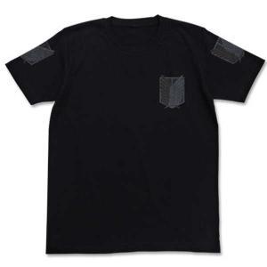進撃の巨人 Tシャツ 調査兵団 BLACK-S【予約 再販 7月下旬 発売予定】|o-trap