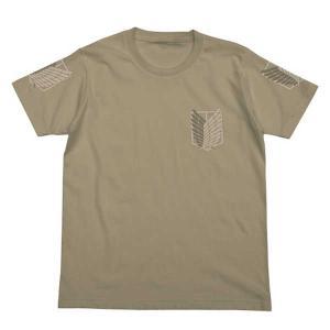進撃の巨人 Tシャツ 調査兵団 SAND KHAKI-L【予約 再販 10月中旬 発売予定】|o-trap