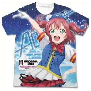 ラブライブ!サンシャイン!! フルグラフィックTシャツ 黒澤ルビィ HAPPY PARTY TRAIN Ver. WHITE-XL|o-trap
