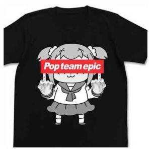 ポプテピピック Tシャツ ポプテピピックの行列ができる BLACK-L【予約 再販 8月上旬 発売予定】|o-trap