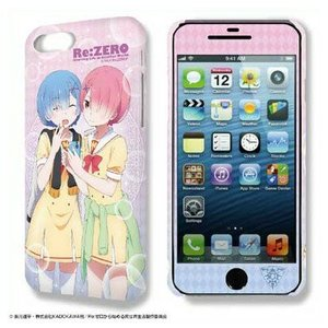 Re:ゼロから始める異世界生活 デザジャケット iPhone 7 Plus/8 Plusケース&保護シート Ver.2 デザイン02 レム&ラム【予約 再販 9月下旬 発売予定】|o-trap