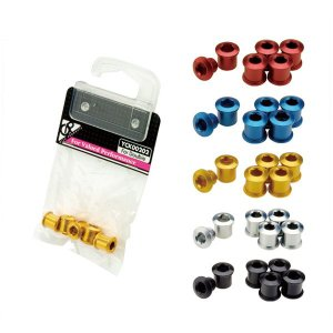 GP(ギザプロダクツ) チェーンリング フィキシングボルト セット (ダブル用)(同色5 個セット)/Chainring Fixing Bolt Set (Double) (YCK002)(GIZA PRODUCTS) o-trick