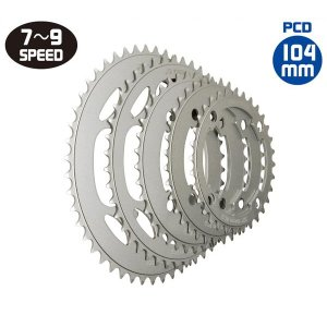 TIOGA(タイオガ) チェーンリング (4 アーム用 / PCD : 104mm)/Chainring (for 4 arm / PCD : 104mm) (CKR040)(32T 〜 36T)(自転車用) o-trick