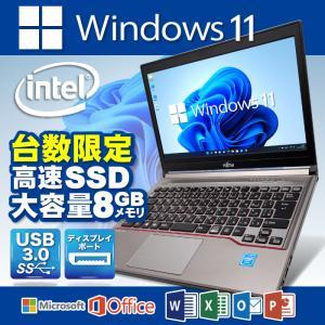 ノートパソコン Microsoft 社認証 Windows10 高速CPU Corei5 新品SSD120G メモリ4G 無線LAN  Office 付 12.1型 富士通 LIFEBOOK P771|oa-plaza