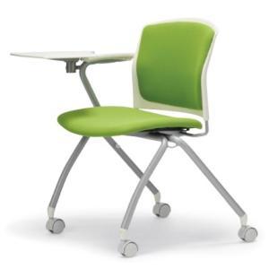 テーブル付き椅子 メモ台付きチェア MC-392TW(片肘、キャスター付き)|oaks-net