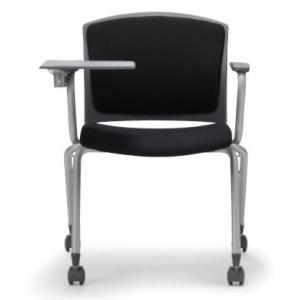 テーブル付き椅子 メモ台付きチェア MC-393TG(両肘、キャスター付)|oaks-net