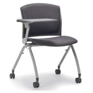 テーブル付き椅子 メモ台付きチェア MC-392TG(片肘、キャスター付き)|oaks-net