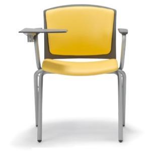 テーブル付き椅子 メモ台付きチェア MC-391TG(両肘、固定脚タイプ)|oaks-net