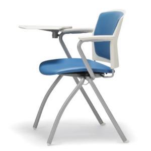 テーブル付き椅子 メモ台付きチェア MC-391TW(両肘、固定脚タイプ)|oaks-net