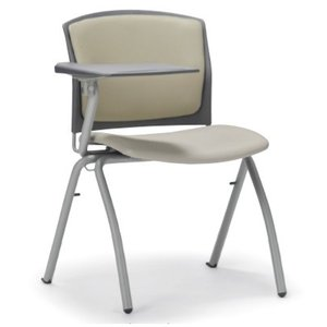 テーブル付き椅子 メモ台付きチェア MC-390TG(片肘、固定脚タイプ)|oaks-net
