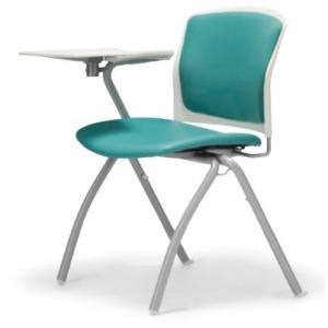 テーブル付き椅子 メモ台付きチェア MC-390TW(片肘、固定脚タイプ)|oaks-net