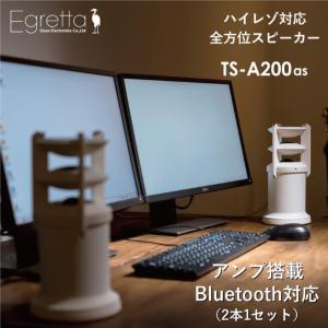 スピーカー デスクトップサイズ Egretta エグレッタ TS-A200as ハイレゾ対応 アンプ...