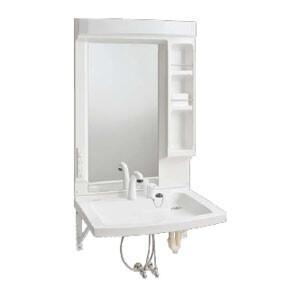 車椅子対応 洗面化粧台 ブラケット仕様 Janis(ジャニス工業) 1面鏡 シャワー水栓【受注生産品】|oasis-happylife