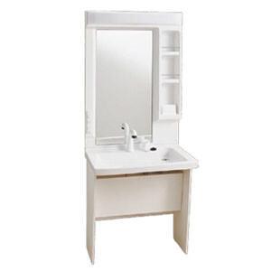 車椅子対応 洗面化粧台 LU751MPJ-10BW1+LUM7510PLN Janis(ジャニス工業) キャビネット仕様 1面鏡 シャワー水栓【受注生産品】|oasis-happylife