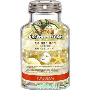 ピュアダム   【PUREDERM】 化粧水・乳液・クリームもいらない 真珠 エッセンスマスク 19ml|oasis-leaf