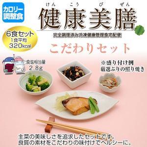 カロリー調整食 健康美膳 こだわりセット(6食セット) K-1|oasismse