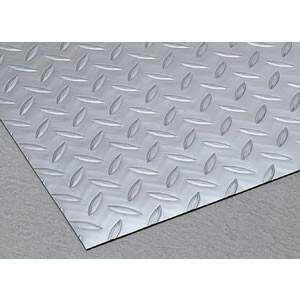 スリップ防止用シートマット縞鋼板シルバー 1.5x915mm 1m