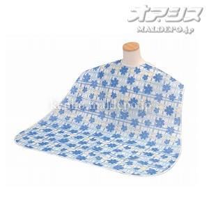竹虎ヒューマンケア ソフラピレンエプロン コスモス/102260 ブルー|oasisu
