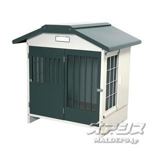 アイリスオーヤマ 犬小屋スチール切妻犬舎 SLH-10 グレー|oasisu