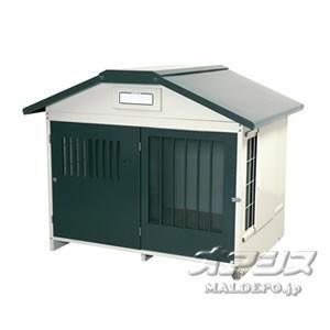 アイリスオーヤマ 犬小屋スチール切妻犬舎 SLH-15 グレー|oasisu