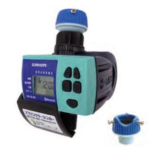 自動潅水タイマー スプリンクラーシンカー 接続口径20mm DC11E-BT サンホープ 乾電池式 ...