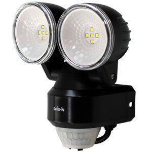 スタンダードLEDセンサーライト 2灯式 コンセント式 DLA-N4T200 DAISHIN(大進) oasisu