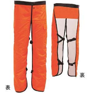 極 チェーンソー防護用 チャップス HT-C002-OR HEART(ハートフル・ジャパン) フリーサイズ(長さ88cm) 9層繊維|oasisu
