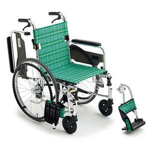 自走介助兼用 軽量ウイング車いす ライトストリーム LS-43RD ミキ 【受注生産品】|oasisu