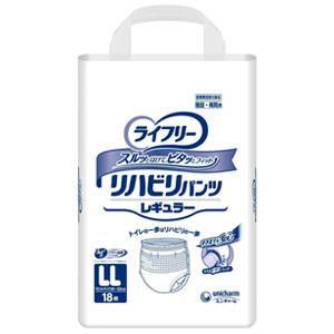 Gライフリー リハビリパンツ レギュラー LLサイズ 18枚入り ユニ・チャーム ウエストサイズ90〜125cm|oasisu