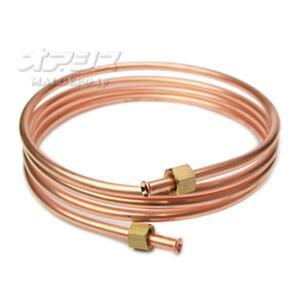 長府製作所 銅パイプ(銅管・送油管) 両側フレア加工 8mm×2.5m|oasisu