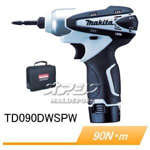 10.8V充電式インパクトドライバー TD090DWSPW 90Nm 充電器・バッテリ・ソフトケース付 マキタ