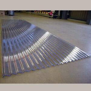 送料無料 波板 浪板 ポリカーボネート アイリスシンヨー 9尺 270cm 採光 透明 屋根材 ナミ...