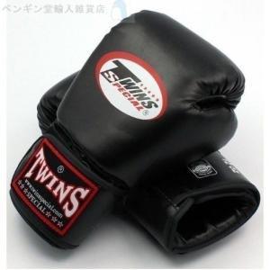 【TWINS SPECIAL】ボクシング グローブ 10オンス Black/パンチング/練習用/キッ...