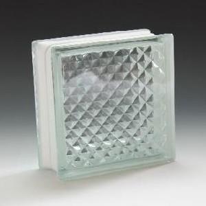 ガラスブロック サイズ 190×190×80 ラティス|obara-jyusetu